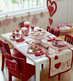 Valentines day table decorations