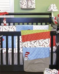 Dr. Seuss Cat in the Hat Crib Bedding Set