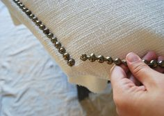 How to keep your studs in line some upholstery advice pinterest nailhead trim upholstered headboards solutioingenieria Image collections