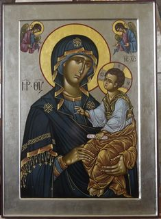 Madonna and Child. Religious Images, Religious Icons, Religious Art, Byzantine Icons, Byzantine Art, Greek Icons, Mama Mary, Blessed Mother Mary, Madonna And Child