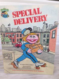 vintage Sesame Street Special Delivery book by Valjean McLenighan Richard Brown 1980 edition by MotherMuse on Etsy