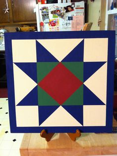Barn Quilt Pattern Wooden Handmade Wooden by TheWillowWorkshop, $40.00.  SOLD