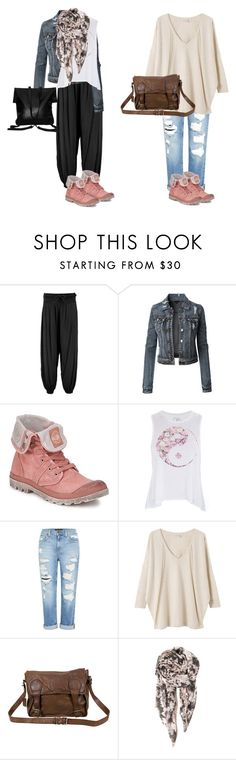 """""""pink palladium boots"""" by thepinkpaire ❤ liked on Polyvore featuring Boohoo, LE3NO, Palladium, Genetic Denim, EAST, VIPARO, BeckSöndergaard and Xenab Lone"""