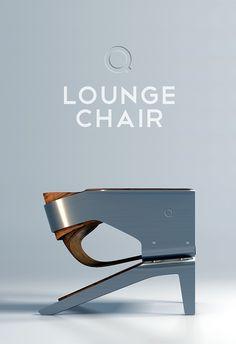 Q Lounge Chair On Behance Sbbdjd Chair Design Furniture Classic Furniture, Unique Furniture, Contemporary Furniture, Furniture Decor, Furniture Design, Furniture Movers, Metal Design, Deco Design, Chaise Indus