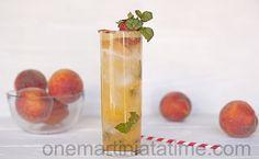 Peach Mojito {with Dragon Berry Rum}