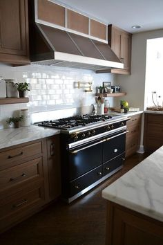 Image result for kitchen subway tile colours maple cabinets
