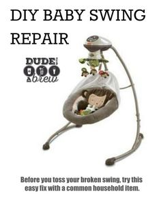 Problem solvers and household hacks on pinterest granite for Baby swing motor replacement