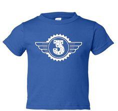 Birthday T shirt for Three Year Old Children by DesignDepot123, $11.50