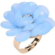 Dettagli Ring ($28) ❤ liked on Polyvore featuring jewelry, rings, anelli, azure, rhinestone jewelry and rhinestone rings