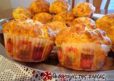 Αλμυρά μαφινάκια συνταγή από DEMI.K - Cookpad Sweets Recipes, Cake Recipes, Snack Recipes, Snacks, Party Recipes, Finger Food Appetizers, Finger Foods, Greek Recipes, Desert Recipes
