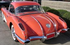 A pictorial description of 1958 Corvette Chevrolet Corvette, 1958 Corvette, Fancy Cars, Cool Cars, Corvette History, Corvette Summer, Amazing Cars, Awesome, Corvettes