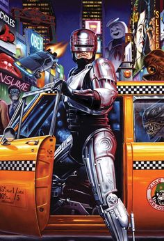 I love the 80s! #film #art #illustration #retro #vintage #robocop #bttf #ghostbusters #tron #movies #poster