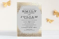 Swoon! Receive 15% off by clicking the link http://thebridaldetective.com/rsvp-in-style-with-foil-pressed-invitations-by-minted/