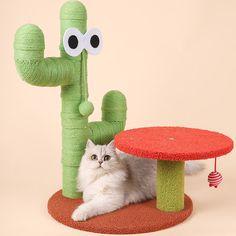 Cat Trees Cheap, Cat Climbing Tree, Cactus Cat, Cat Tree House, Cat Room, Cat Supplies, Pet Beds, Cool Cats, Yoshi