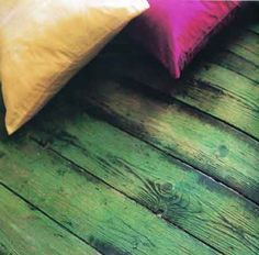 Painted floor planks... (inspirations from a book called Paint Alchemy by Annie Sloan)