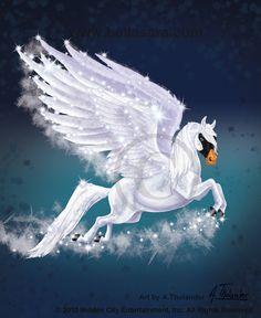 Bella Starlight Cygnus by MiniBaah Beautiful Fantasy Art, Dark Fantasy Art, Beautiful Horses, Animals Beautiful, Creature Drawings, Horse Drawings, Unicorn Pictures, Horse Pictures, Mythical Creatures Art
