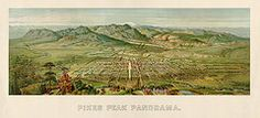 Colorado Art - Antique Map of Colorado Springs by H. Wellge - 1890  by Blue Monocle