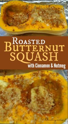 Roasted Butternut Squash with Cinnamon and Nutmeg Recipe Roasted Butternut Squash Side Dish Recipes, Vegetable Recipes, Vegetarian Recipes, Cooking Recipes, Healthy Recipes, Nutmeg Recipes Food, Thanksgiving Recipes, Fall Recipes, Butter Squash Recipe