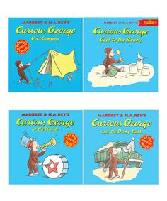 Curious George Out & About Paperback Book Set