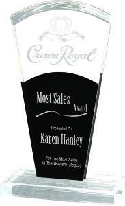 Black & Clear Gallant Clear Acrylic Award Trophy