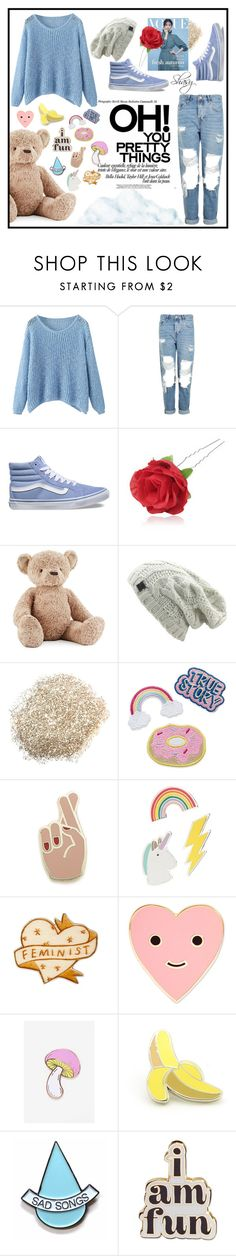 """""""#6"""" by shasy ❤ liked on Polyvore featuring Topshop, Vans, Chicnova Fashion, Jellycat, Georgia Perry, Red Camel, ban.do, Big Bud Press, PINTRILL and Stay Home Club"""