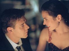 "Russell Crowe, left, and Jennifer Connelly in a scene from ""A Beautiful Mind."" 2001 photo by Eli Reed, AP"