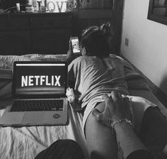 {Signa and Kaleb} You wanted to watch Netflix, since you were so behind on your favorite TV show. I wasn't interested in your show.. I lay down on my stomach, and go on Instagram. I feel your hand on my bum, and blush deeply.