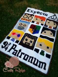 Who wants some more Potter in their lives? Grab these extra grap your Potter afghan or make some fun pillows!