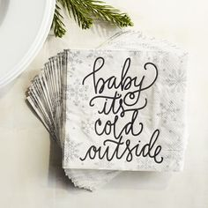 Baby Its Cold Outside Paper Cocktail Napkins | Pier 1 Imports