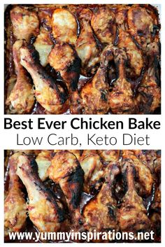 Best Ever Chicken Bake Recipe - Low Carb Keto Chicken Dinner Recipes - includes the printable easy recipe and video tutorial.