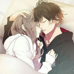 Image about girl in anime-manga couple♥︎ by zillion Anime Couples Cuddling, Anime Couples Hugging, Anime Couples Drawings, Anime Couples Manga, Cute Couple Drawings, Couple Cuddling, Couple Hugging, Romantic Anime Couples, Couple Sleeping