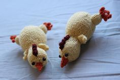 Rubber Chickens - free knitting pattern from KnitPicks.com