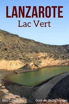Iles Canaries Lanzarote voyage - Découvrez le fascinant lac vert au milieu d'un cratère volcanique au bord de mer. Un paysage volcanique unique!      iles canaries voyage   #canaryislands #Lanzarote   Lanzarote plages   Lanzarote paysages     Paysage magnifique   plus beaux endroits du monde