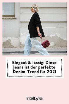 Der jüngste Denim-Trend für 2021? Baggy Jeans. Wer glaubt, die Pants ließen sich nicht elegant stylen, irrt. So funktioniert der Look! #instyle #instylegermany #jeans #denim #elegant #lässig Jeans Rock, Denim Jeans, Trends, Elegant, Shopping, Fashion, Fashion Styles, Guys, Classy