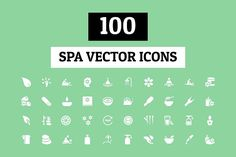 100 Spa Vector Icons by Creative Stall on @creativemarket