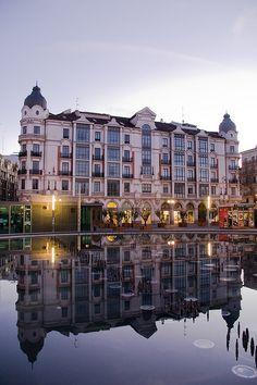 Amanecer en el centro de Valladolid. Por Weiko Roberto