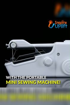 This handy Portable Mini Sewing Machine is perfect for any job, from sewing and repairing your clothing, to interior decorating, and even working with curtains! Sewing Hacks, Sewing Projects, Tools And Toys, Any Job, Learn To Sew, Sewing Machines, Cool Things To Buy, Interior Decorating, Cool Stuff
