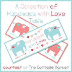 The Cottage Market: Handmade with Love; lots of good gift tags here~d