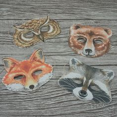 Children's Woodland Creatures Party Masks -- but I'll DIY