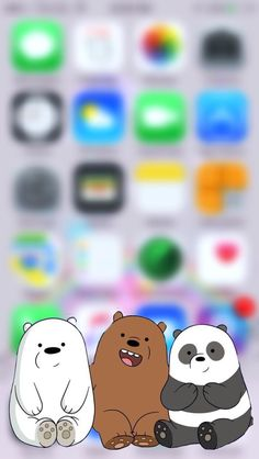 We Bare Bears iPhone Wallpaper