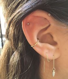 best Ideas for piercing ear ideas peircings best . - Schmuck - best Ideas for piercing ear ideas peircings best Ideas for piercing - Innenohr Piercing, Cute Ear Piercings, Ear Piercings Conch, Orbital Piercing, Ear Peircings, Multiple Ear Piercings, Tongue Piercings, Front Helix Piercing, Conch Piercing Jewelry