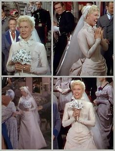 Doris Day in a Howard Shoup-designed wedding dress in Calamity Jane (1953)