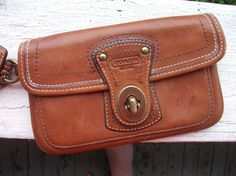 Vintage Classic Coach Leather Wristlet by GoodLucyBadLucy on Etsy, $50.00!!!!!!!!!!!!!!!!!!