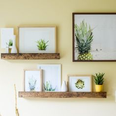 Learn how to build these West Elm-inspired deep picture ledges, perfect for displaying art, small vases, etc.
