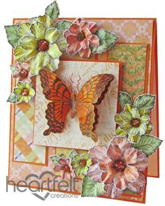Heartfelt Creations | Orange Butterfly And Blooms