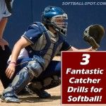 3 fantastic catcher drills with video that will help your catcher get more comfortable with targeting and framing, and catching low, right and left pitches!
