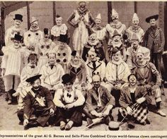 Clowns of the great Al G. Barnes and Sells-Floto Combined Circus