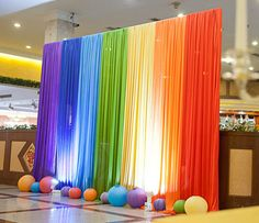 Ice Silk Rainbow Wedding Backdrop Colourful Wedding Background Party Decoration background drop colors for choose Stage Decorations, Birthday Party Decorations, Birthday Parties, Rainbow Wedding Decorations, Diy Wedding Backdrop, Diy Backdrop, Fabric Backdrop, Backdrop Event, Decor Wedding