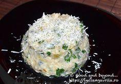 Risotto cu praz și brânză albastră Bob Lung, Meatless Recipes, Risotto, Potato Salad, Mashed Potatoes, Grains, Rice, Ethnic Recipes, Food