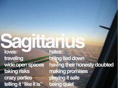 gotta love a Sagittarius